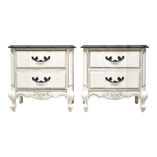 American of Martinsville French Provincial Nightstands or End Tables - a Pair