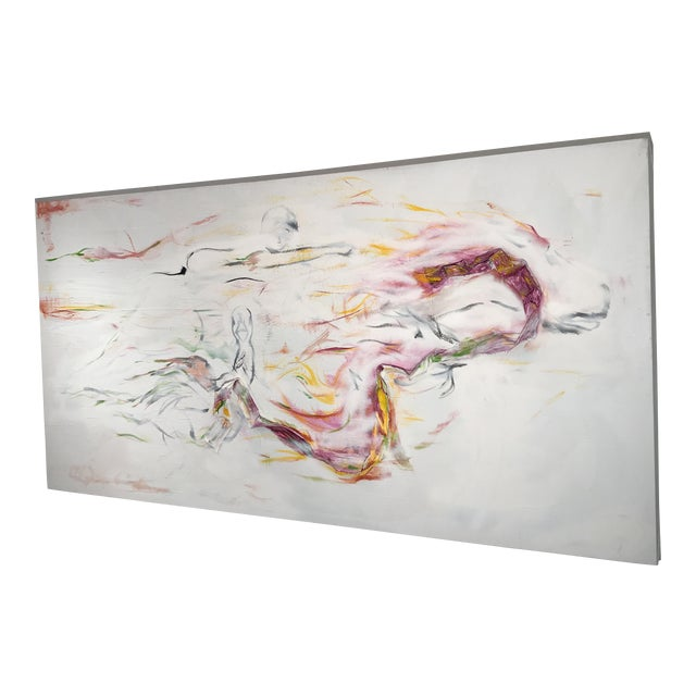 Abstract Multi-Media Acrylic Painting For Sale