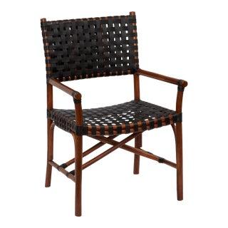 Malibu Arm Chair, Chocolate, Rattan For Sale
