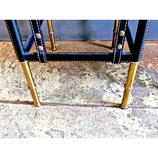 Pair of Jacques Adnet Bar Stools, C. 1950s For Sale - Image 9 of 12