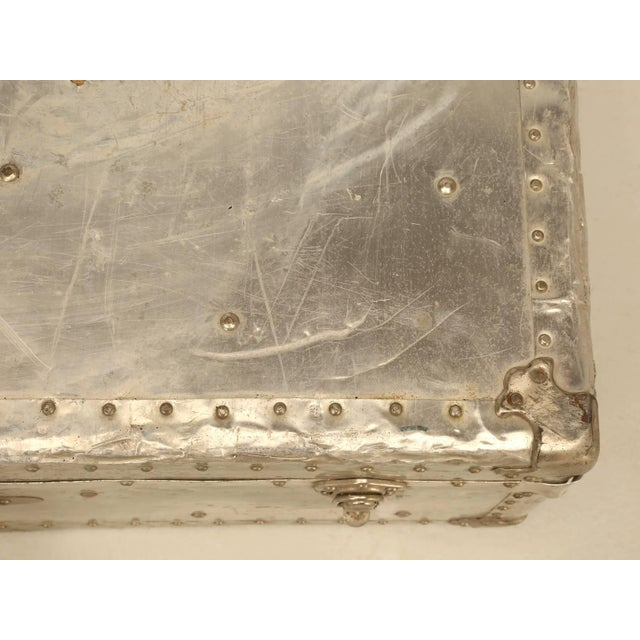 French Metal Trunk For Sale - Image 4 of 10