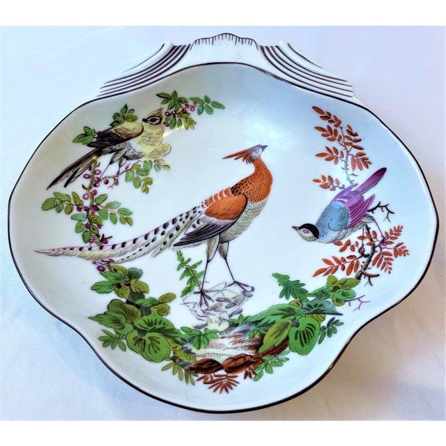 Ceramic Vintage Mottahedeh Chelsea Bird Shell Bowl For Sale - Image 7 of 10