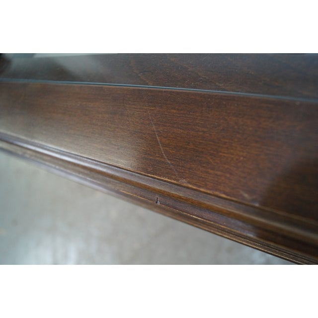 Chippendale Style Cherry Glass Top Coffee Table - Image 5 of 10