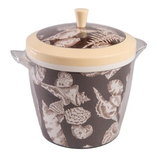 Madcap Cottage Acrylic Ice Bucket With Seashell Motif For Sale