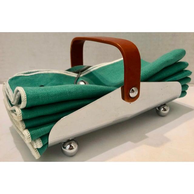 Art Deco Bakelite & Chrome Napkin Holder For Sale - Image 9 of 9