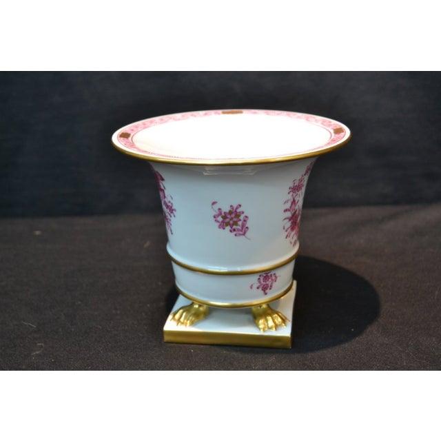 Magenta Gold Herend Vase Chairish