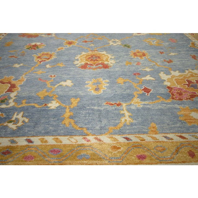 Contemporary Turkish Oushak Rug - 11′10″ × 15′9″ For Sale - Image 4 of 7