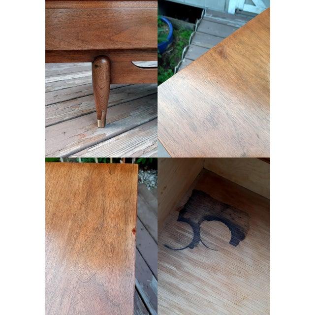 Mid Century Modern Hooker Mainline 9 Drawer Walnut Dresser With Mirror For Sale - Image 10 of 13