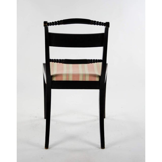 Early American Hitchcock Style Dining Chairs - Set of 6 For Sale - Image 11 of 12