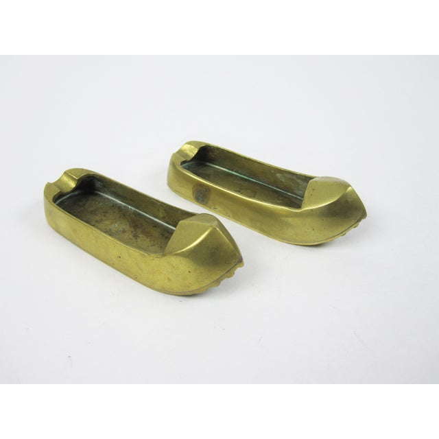 Brass Turkish Shoes Ashtray Catchalls - A Pair - Image 2 of 4