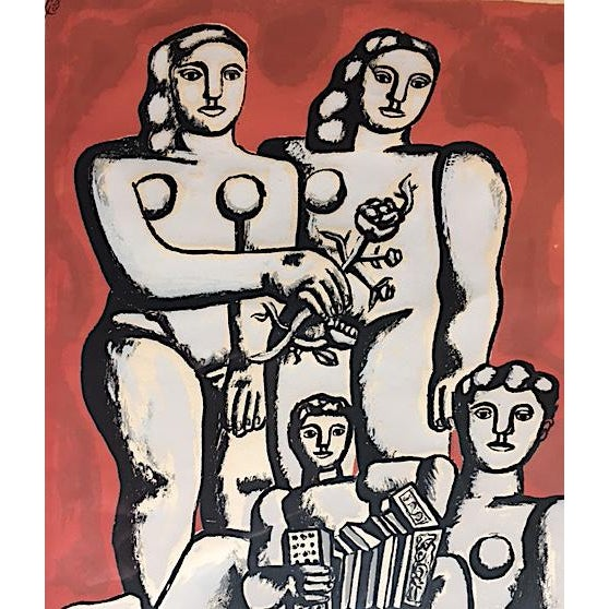 'The Three Sisters on Red' Seriograph For Sale - Image 5 of 8