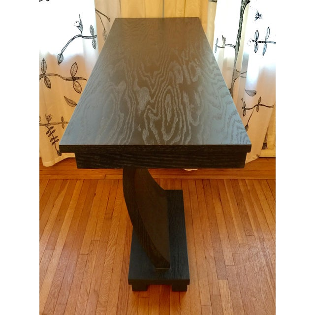 1990s Stained Wood Console For Sale - Image 5 of 6