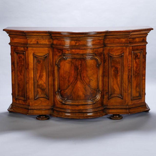 19th Century Burl Walnut Cabinet With Rounded Front and Original Keys For Sale - Image 10 of 10
