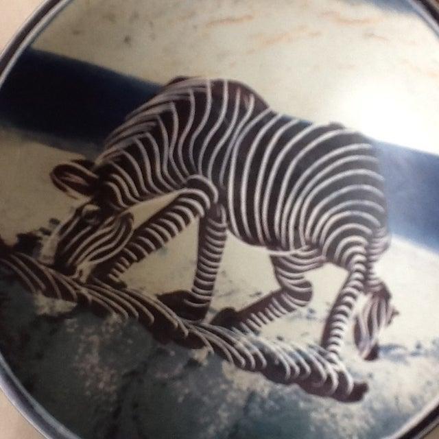 African Zebra Trinket Tray - Image 8 of 11
