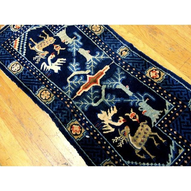 Antique 1920s Chinese Wool Horse Cover For Sale - Image 4 of 5