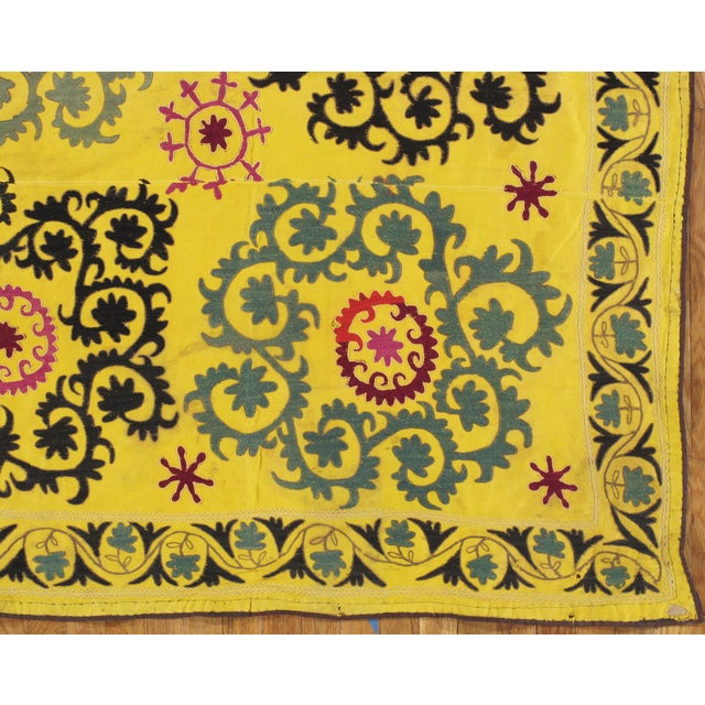 Late 20th Century Suzani Textile Rug - 6′2″ × 8′2″ For Sale - Image 4 of 9