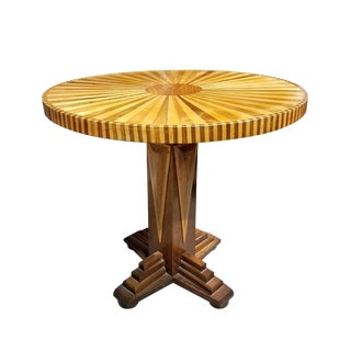 Mid-Century Modern Whimsical Walnut and Maple Center Table For Sale