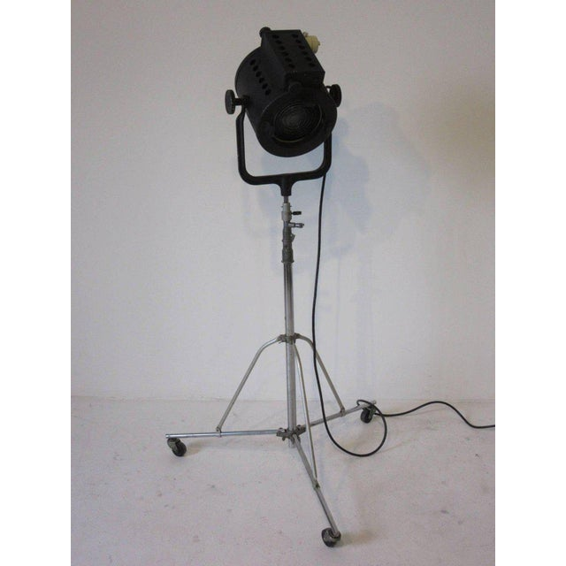 Chrome Movie Theater Hollywood Photo Spotlight or Floor Lamp For Sale - Image 7 of 7