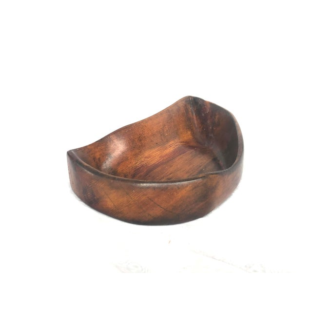 1950s Organic Modern Hand Carved Wooden Bowl For Sale - Image 4 of 11