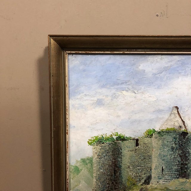 1900s Framed Oil Painting on Canvas For Sale - Image 5 of 11