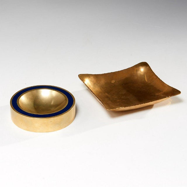 1960s 1960s Modernist Brass Vide Poche - a Pair For Sale - Image 5 of 5
