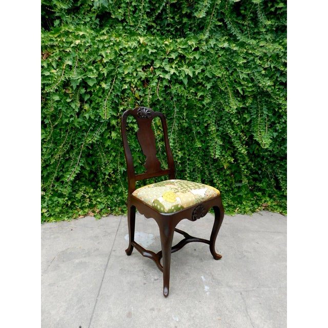Green Antique Botanical Cactus Chair For Sale - Image 8 of 9