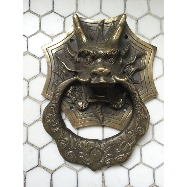 Asian Dragon Brass Door Knocker - Image 2 of 9