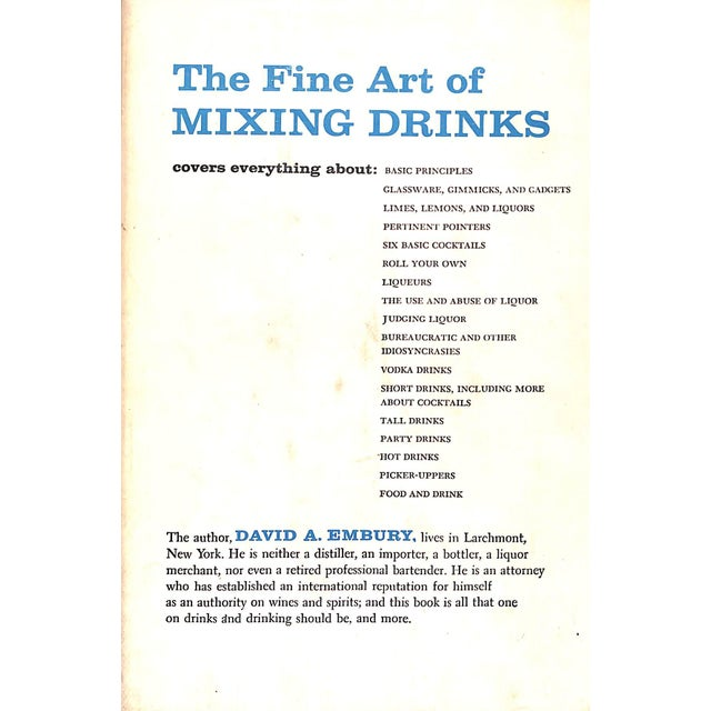 """""""The Fine Art of Mixing Drinks"""" Book - Image 2 of 5"""
