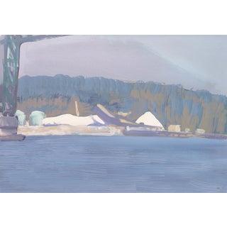 'Industrial Landscape in Blue, California' by Stewart Kelley, 1990; Marin Society of Artists, Nassau For Sale