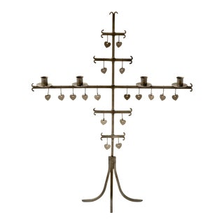 Swedish 1960s Steel Hearts Candelabra For Sale