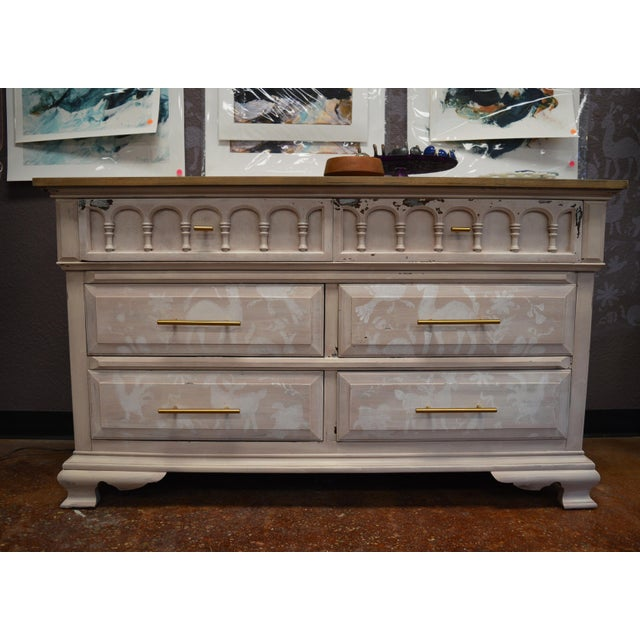 Folk Otomi Chest With Brass-Tone Pulls - Image 2 of 10