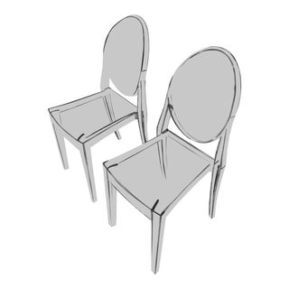 Design Within Reach Victoria Ghost Chairs - a Pair