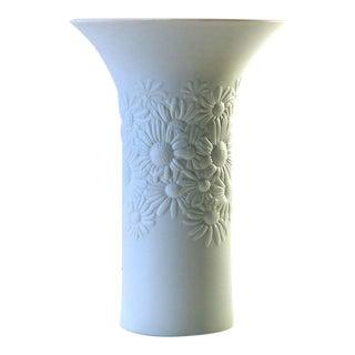 Mid 20th Century Vintage Rosenthal Bisque Porcelain Daisy Vase For Sale