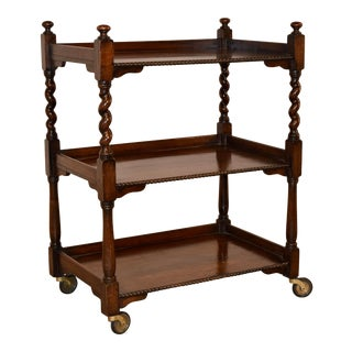 19th C English Drinks Cart
