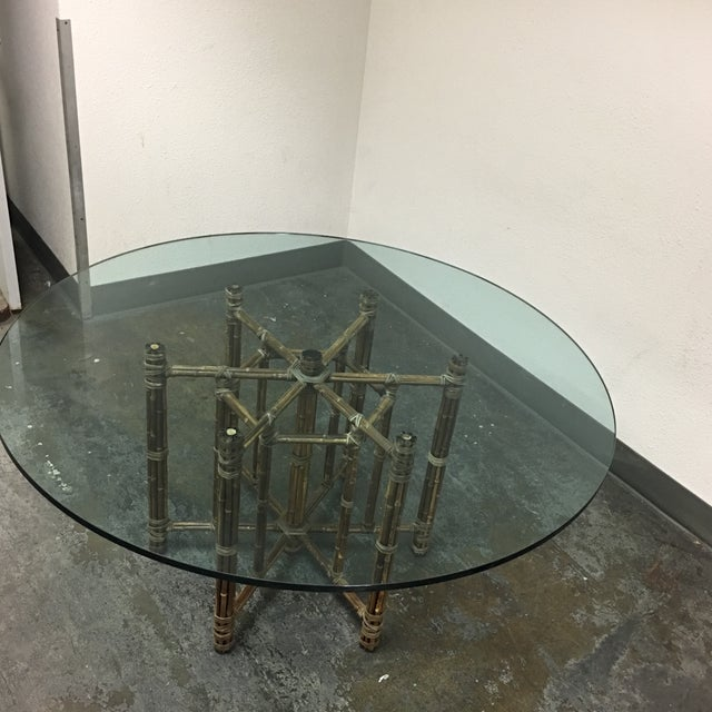 McGuire Bamboo & Glass Dining Table - Image 4 of 8