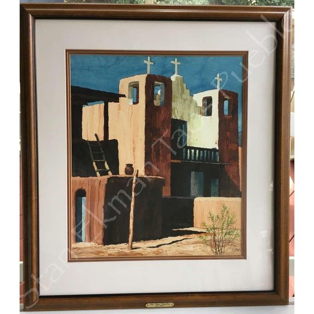 Rare Stanley Ekman the Taos Pueblos Original Watercolor - Image 2 of 11