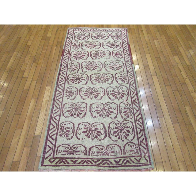 Textile Vintage Handmade Wool Turkish Anatolian Rug For Sale - Image 7 of 7