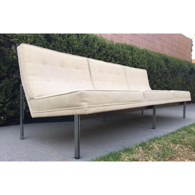"Florence Knoll Florence Knoll ""Parallel Bar"" Armless Sofa For Sale - Image 4 of 8"
