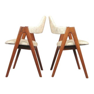 Mid Century Kai Danish Kristiansen Teak Compass Chairs- A Pair For Sale