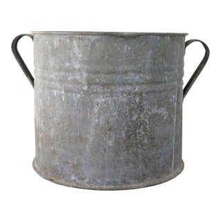 20th Century Country Hungarian Zinc Tub For Sale