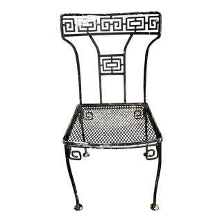 Mid-Century Modern Salterini Greek Key Design Wrought Iron Chair For Sale