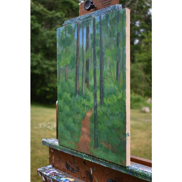 """2010s """"Back Yard Path"""", Contemporary Painting by Stephen Remick For Sale - Image 5 of 9"""