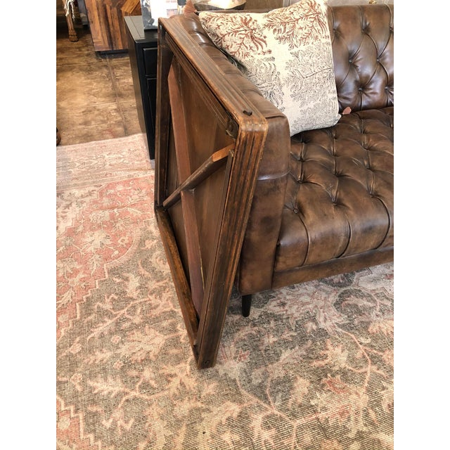 Wood Vintage Mid Century Folding Card Table For Sale - Image 7 of 13
