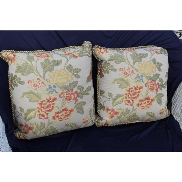 Pr. Of Possible Italian Scalamandre Down Filled Pillows For Sale - Image 13 of 13
