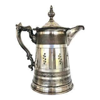 Late 1800s Victorian Silver Ice Water Pitcher For Sale