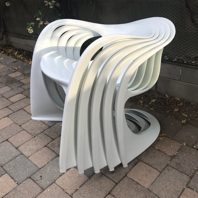 1960s Mid Century Vitra Style Monolith Chairs- 5 Pieces For Sale - Image 5 of 11