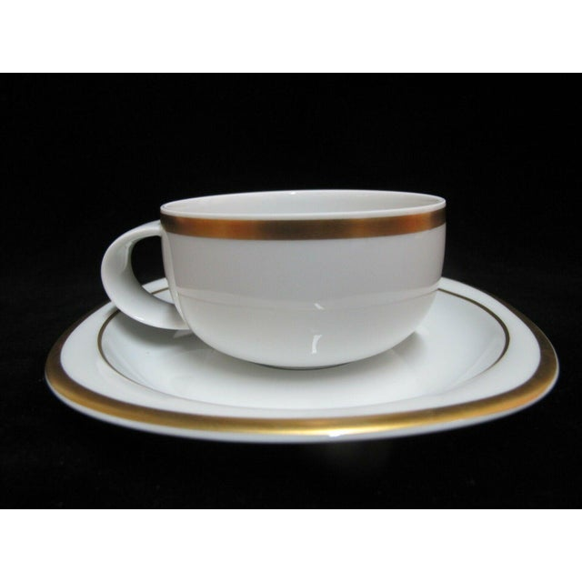 Modern Vintage Rosenthal Studio Banquet Suomi Series Gold Gilt Cup Plate Setting - 5 Piece Set For Sale - Image 3 of 9