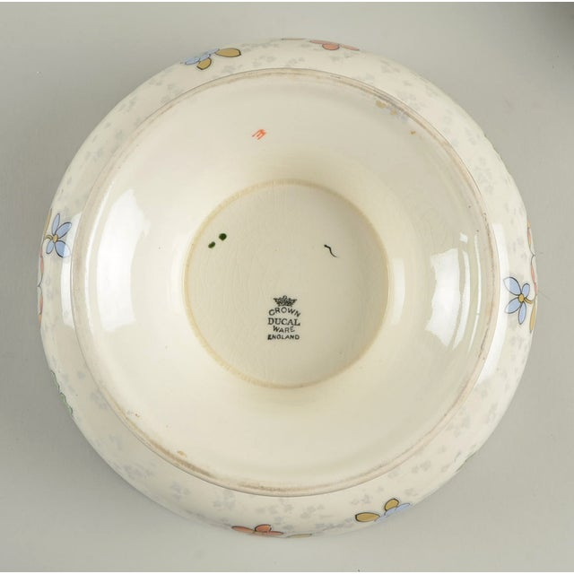 Ceramic Crown Ducal Beaumont Footed Bowl For Sale - Image 7 of 9