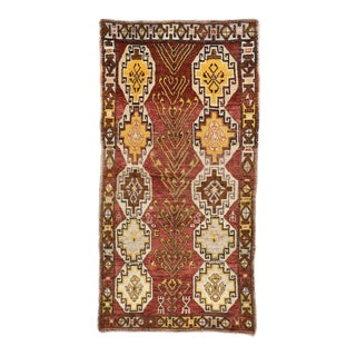 Vintage Turkish Oushak Runner with Modern Tribal Style, Gallery Rug