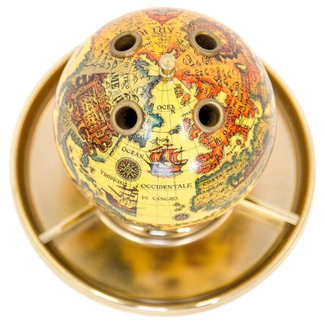 Minimalism Old World Globe Desk Organizer For Sale - Image 3 of 5